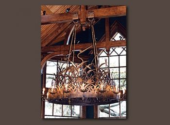 Heron Low Country Iron Chandelier by John Boyd Smith