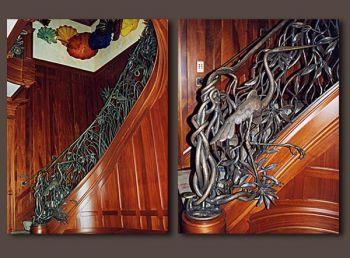 Spiral Lowcountry Mangrove metal railing by John Boyd Smith