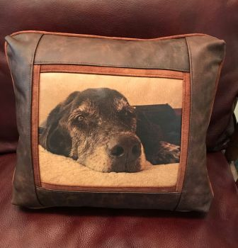 Mac Custom Leather Pillow