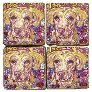 Mad Yellow Dog Italian Coasters