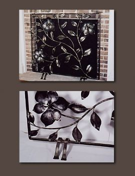 Magnolia Metal Firescreen custom made by John Boyd Smith