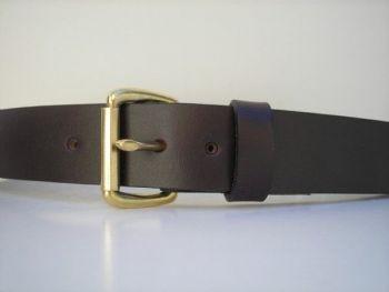 "1 1/2"" wide mahogany field belt by Royden leather Belts"