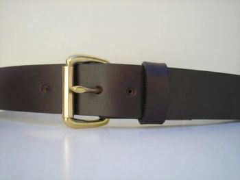 """1 1/4"""" Mahogany Brown Field Belt by Royden Leather Belts"""