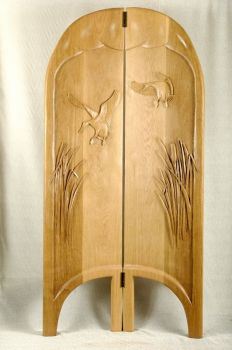 Mallard Migration is a Free Standing Screen hand carved by Larry Lefner