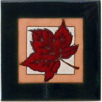 Maple Leaf Ceramic Tile by Maanum Custom Tiles