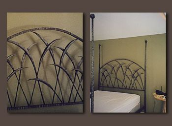 Marsh Grass Bed Custom Metalwork Furniture by John Boyd Smith