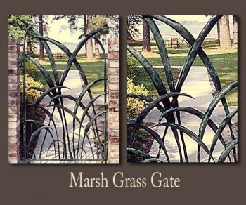 Marsh Grass metal gate by John Boyd Smith