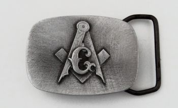 Masonic Emblem pewter buckle by Sid Bell Originals