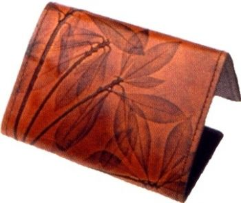 Men's Tri-Fold leaf leather Wallet