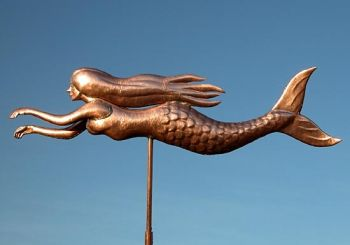Mermaid Copper Weathervane by Barry Norling