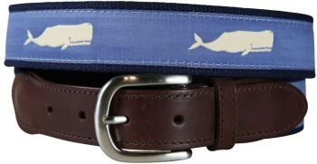 Moby Whale Leather Tab Belt by Belted Cow