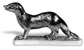 Mongoose Hood Ornament or Car Mascot by Louis Lejeune comes in chrome, bronze, enamel or gold plated
