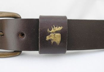 Moose Head Belt by Royden Leather Belts
