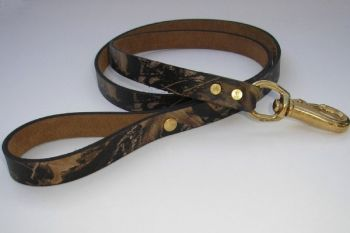 Mossy Oak Break Up Leather Dog Leash by Royden Leather