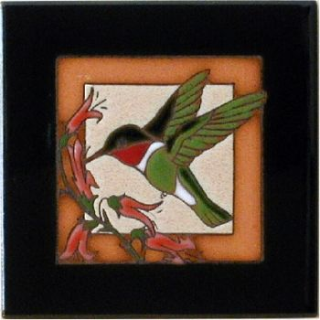 Hummingbird Ceramic Tile - Maanum Custom Tiles