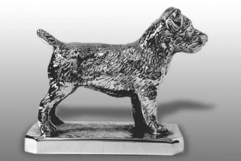 Norfolk Terrier Hood Ornament or Car Mascot by Louis Lejeune comes in chrome, bronze, enamel or gold plated
