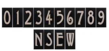 Numbers 3 x 6 Ceramic Tiles - Maanum Custom Tiles