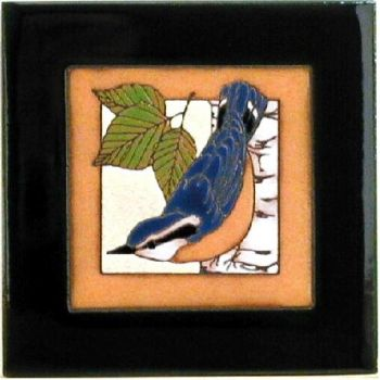 Nuthatch 6 x 6 Ceramic Tile - Maanum Custom Tiles