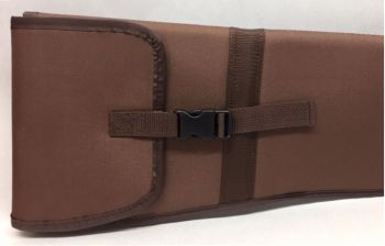 Nylon Padded Shotgun Sleeve - Buckle Closure - Brown