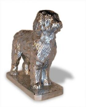Old English Sheepdog Hood Ornament or Car Mascot by Louis Lejeune comes in chrome, bronze, enamel or gold plated
