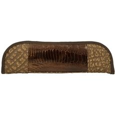 Ostrich Skin & Cape Buffalo Hide Knife Case - Front