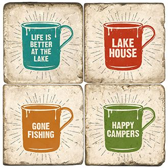 Outdoor Mugs  Italian Marble Coasters and Giftware