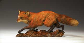 Outfox is a bronze sculpture of a fox by Liz Lewis