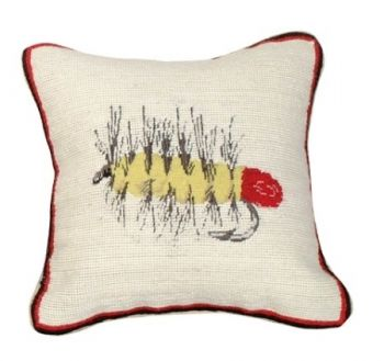 Palmer Fly Mixed Stitch Pillow by Michaelian Home