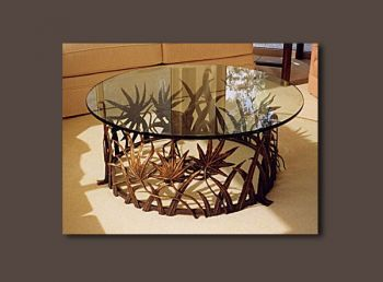 Palmetto Coffe Table forged from iron by John Boyd Smith