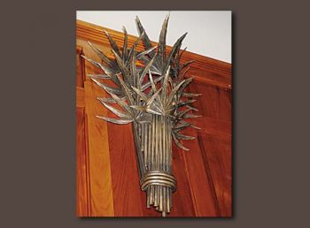 Palmetto Custom Metal Sconce by John Boyd Smith