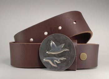 Birds of a Feather Buckle and Belt by Tyger Forge