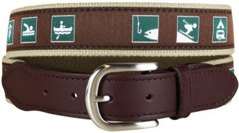 Parks and Recs Signs Leather Tab Belt by Belted Cow
