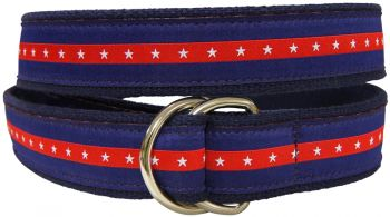 Patriotic Stripe D-Ring Belt by Belted Cow