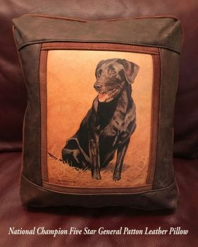 Five Star General Patton Leather Pillow