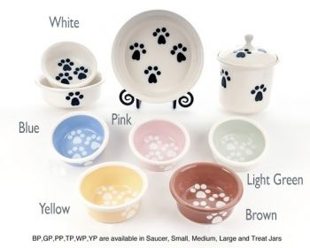 Pawsware design Petware Pottery dog and cat bowls