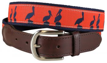 Belted Cow Pelican Sunset Leather Tab Belt