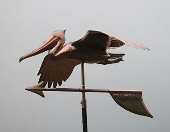 Pelican Copper Weathervane by Barry Norling