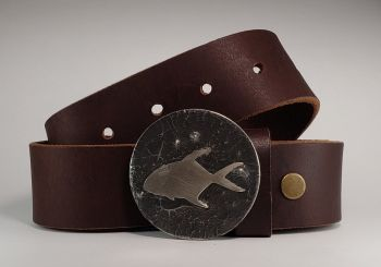 Permit Hand Cut Buckle and Belt by Tyger Forge