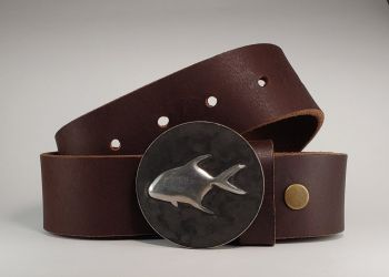 Permit Hand Embossed Buckle and Belt by Tyger Forge