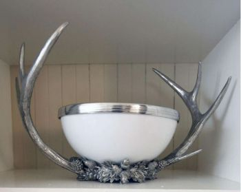 Pewter antler serving bowl by Vagabond House