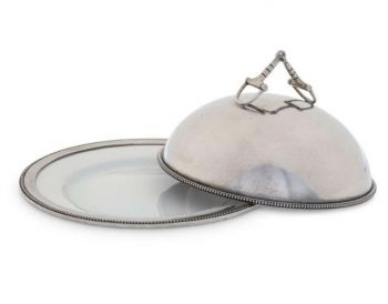 Pewter Bit Butter Dish by Vagabond House