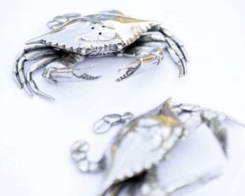Pewter Blue Crabs Salt and Pepper shakers from Vagabond House