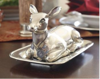 Pewter Doe Butter Dish by Vagabond House