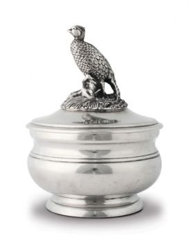 Pewter pheasant sauce bowl by Vagabond House