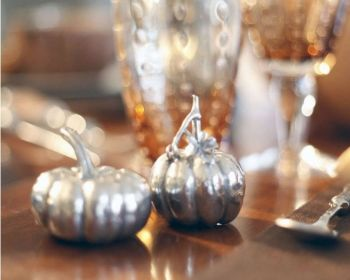 Pewter pumpkins salt and pepper set by Vagabond House