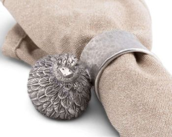 Pewter quail napkin ring by Vagabond House