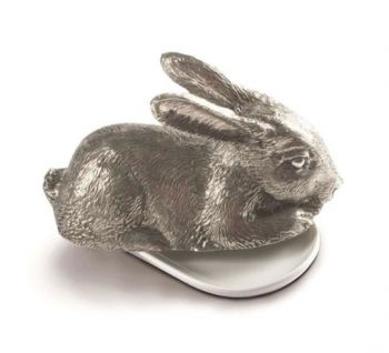 Pewter Rabbit Butter Dish by Vagabond House