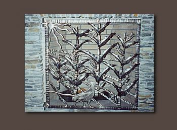 Pheasant Custom Metal Firescreen by John Boyd Smith
