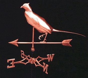 Pheasant Copper Weathervane by Barry Norlng