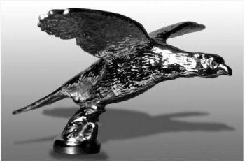 Pheasant Flying Hood Ornament or Car Mascot by Louis Lejeune comes in chrome, bronze, enamel or gold plated